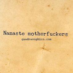 #Quadrasophics Und auf zum #Yoga. #Quadrasophics :-) #namaste