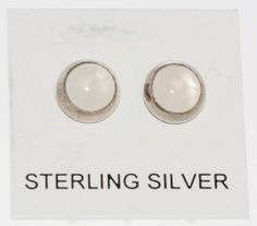 Sterling Silver 6mm Round Pink Rose Quartz Gemstone Stud Earrings