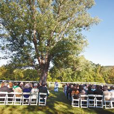 Both the ceremony and reception were held at the Briar Patch Bed and Breakfast Inn, which is located in Virginia near the village where the couple got engaged. Click through to see more photos! (Holland Photo Arts)