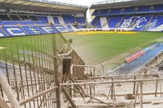 Birmingham City then and now: Old images of St Andrew's blended with images of the stadium today - Birmingham Mail Birmingham City Fc, Football Pictures, Old Images, St Andrews, The St, Nostalgia, Saints, Basketball Court, Blues