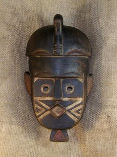 African Masks - Kuba Mask 14 - Front - Click to return to the top of the page.