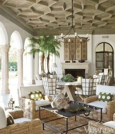 Stunning Outdoor Areas For Al Fresco Living Spanish and Moroccan design inspired this exotic and modern open-air space.Spanish and Moroccan design inspired this exotic and modern open-air space. Southwestern Home, Southwestern Decorating, Tuscan Decorating, Outdoor Rooms, Outdoor Decor, Outdoor Areas, Hawaiian Decor, Tropical Interior, Spanish Design