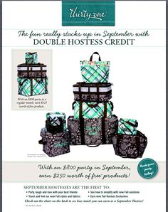 Want to Host a party?  Get Double Hostess Credit on Party's $800 or more!