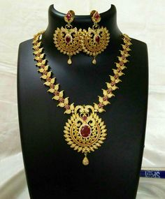 CZ Necklace Set South Indian Necklace Set Indian by Fashionkali