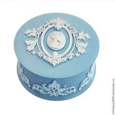 Купить Шкатулка «Синий Веджвуд» - шкатулка, шкатулка для украшений, шкатулка…