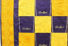 crown royal quilts pictures | Crown Royal Quilt | Sew Let's Quilt it....love the quilting on this one!
