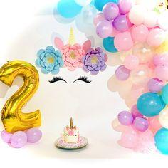 Unicorn Baby Shower Decorations, Diy Unicorn Party, Unicorn Birthday Parties, Diy Backdrop, Flower Backdrop, Paper Flower Arrangements, Paper Flowers, Balloon Decorations, Birthday Party Decorations