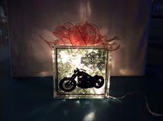 Harley Davidson glass block