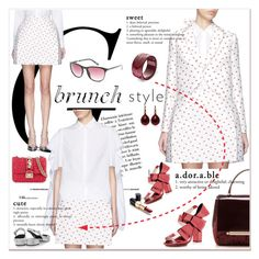 """""""Brunch With Friends"""" by betiboop8 ❤ liked on Polyvore featuring Delpozo, Gucci, Valentino, Pomellato, Ultimo, Spy Optic and brunch"""