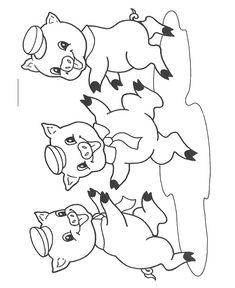 18 The three little pigs printable coloring pages for kids. Find on coloring-book thousands of coloring pages. Coloring Pages For Boys, Free Coloring Pages, Printable Coloring Pages, Coloring Sheets, Coloring Books, Hand Work Embroidery, Hand Embroidery Patterns, Three Little Pigs Story, Digital Stamps