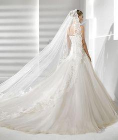 Precioso vestido de novia tipo princesa