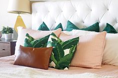 I have been wanting to do a post all about pillow arranging. There are a bunch of different configurations you could do! But this one is my favorite for a king size bed. I also want to mention that buying full pillows can make all the difference too. If you have a bunch of flat …