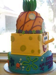 SpongeBob cake! Jr. Would love this!