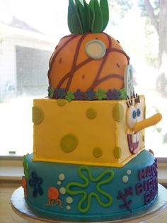 SpongeBob cake! Jr. Would love this!