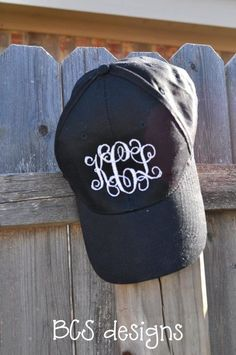 cutest monogram baseball cap