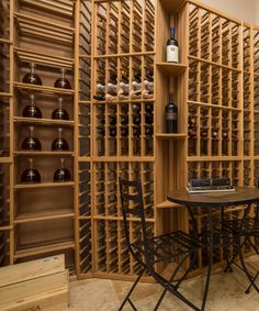 Want to build a traditional wine cellar racking for the basement? Contact now to know more Wine Cellar Basement, Wine Cellar Racks, Wood Wine Racks, Wine Bar Cabinet, Wine Cabinets, Stackable Wine Racks, Wine Rack Design, Red Cedar Wood, Eco Friendly Paint