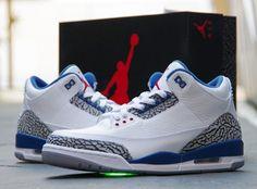 """b08e0bed703c Air Jordan 3 """"True Blue"""" Air Jordan Iii"""
