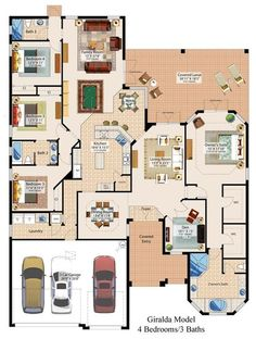 Container home floor plan Dream House Plans, House Floor Plans, My Dream Home, 4 Bedroom House Plans, House Blueprints, New Homes For Sale, House Layouts, Bungalows, House Goals