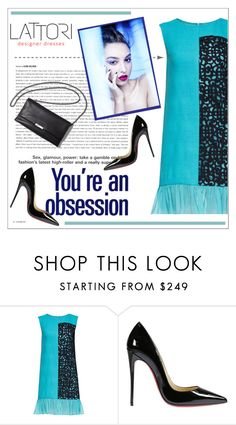 """LATTORI dress"" by water-polo ❤ liked on Polyvore featuring Lattori, Christian Louboutin, polyvoreeditorial and lattori"