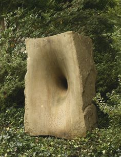 ANISH KAPOOR - UNTITLED, sandstone, 51 by 29 by 42 in. / 129.5 by 73.7 by 106.7 cm. Executed in 1993.