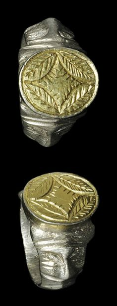 Silver-Gilt Ring ,Europe, 15th century AD.