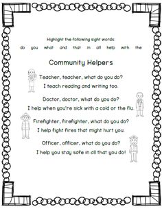 Community Helpers Stations