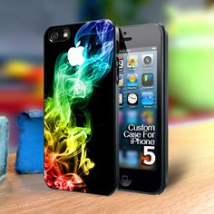 TP156 Rainbow smoke Iphone 5 case | TheYudiCase - Accessories on ArtFire