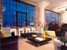 Such gorgeous Windows with exposed brick