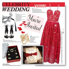 """""""You're invated: Celebrity Wedding"""" by vanjazivadinovic ❤ liked on Polyvore featuring Stuart Weitzman, CelebrityWedding, polyvoreeditorial and persunmall"""