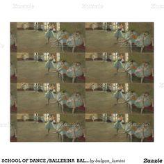 SCHOOL OF DANCE /BALLERINA  BALLET DANCERS IN BLUE WRAPPING PAPER