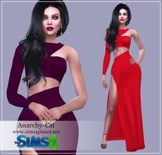 Anarchy-Cat: Dress 2 • Sims 4 Downloads