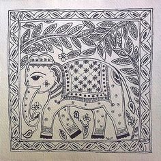 mithila folk painting - Google Search
