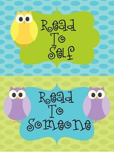 Daily 5/Cafe owl-themed posters. You can purchase them at Teachers Pay Teachers.