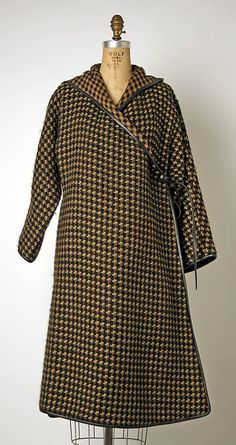 Ensemble (Coat & Dress) Bonnie Cashin (American, 1915–2000) Manufacturer: Philip Sills & Co. (American, founded 1946) Date: 1962 Culture: American Medium: wool, leather