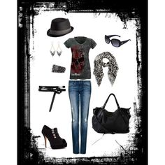 I don't kno if I would wear the hat! But I do like the rest of the outfit