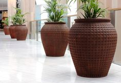 Our Rust Dimple Jar's look striking in both indoor and outdoor settings Westfield Shopping Centre, Shopping Center, Westfield Miranda, Rust Paint, Ceramic Jars, Paint Effects, Outdoor Settings, New Market, Garden Pots
