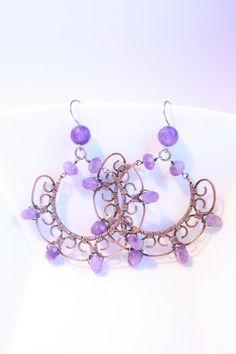 orecchini a cerchio wirework fatti a mano di SusyDeMarchiJewelry, €40.00