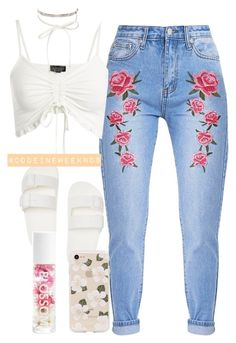 """Jul/24/17"" by codeineweeknds ❤ liked on Polyvore featuring Topshop, Sonix, nOir and Blossom"