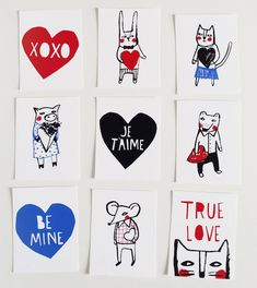 Love Letter Pals printable valentines by Mer Mag