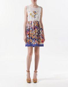 vestido crepe Zara $49.95