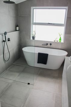 Bathroom Design Small, Bathroom Interior Design, Bathroom Designs, Laundry Room Bathroom, Bathroom Grey, Shared Bathroom, Small Wet Room, Bathroom Renovations Perth, Bathroom Trends