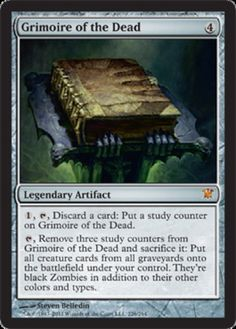 mtg Innistrad 1x Grimoire of the Dead x1 Magic the Gathering card mythic rare NM