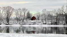 A scenic view is captured in Sunbury, Pa. (TonyBendele)  We Asked, You Shared: Beautiful Winter Wonderland Photos - weather.com