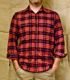 Barnaby Black WOODSMAN PLAID IN RED - www.barnabyblack.com