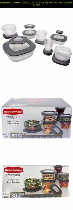 Rubbermaid Premier 30 Piece Food Storage Set with Easy Find Lids New in Box #kit #gadgets #drone #camera #shopping #parts #fpv #storage #technology #plans #c #products #tech #racing