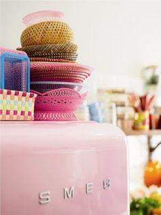 Pink Smeg from west elm Market