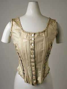 Corset  Date: early 1900s Culture: American or European Medium: cotton  Metropolitan Museum of Art   Accession Number: C.I.38.105.3