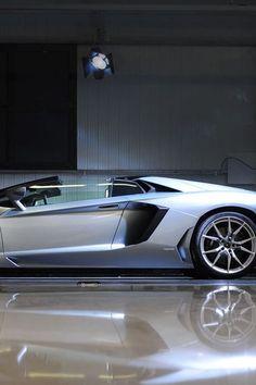 Visit The MACHINE Shop Café... ❤ The Best of Lamborghini... ❤ (Mink Silver 2014 Lamborghini Aventador LP700-4 Supercar)