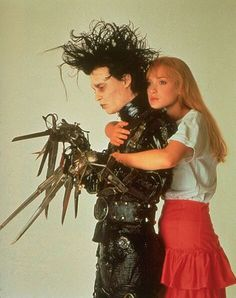 """20 Fictional Couples Who Broke Our Hearts #refinery29 Winona Rider and Johnny Depp in """"Edward Scissorhands"""""""