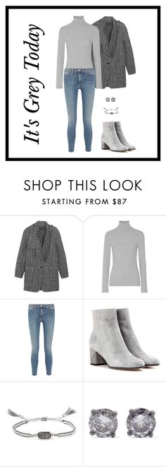 """""""It's Grey Today"""" by theredpoppy ❤ liked on Polyvore featuring Isabel Marant, James Perse, Frame Denim, Gianvito Rossi, Chan Luu, Bottega Veneta, Winter, NYC, grey and GianvitoRossi"""
